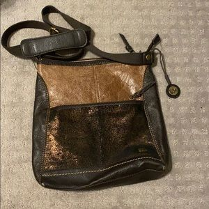 The Sak brown shimmer crossbody bag